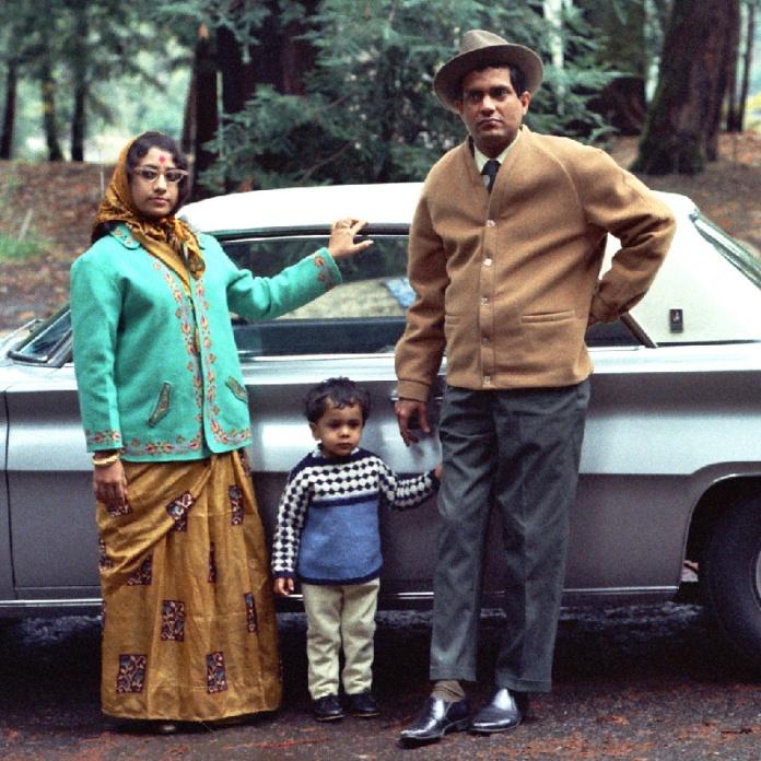 Pandit Shankar Ghosh, Shrimati Sanjukta Ghosh, with Vikram (Boomba) Ghosh at Samuel P. Taylor State Park, Lagunitas, CA, circa 1970